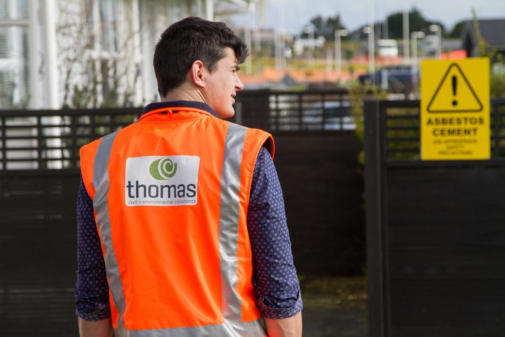 Thomas Consultants Asbestos Surveyor on site