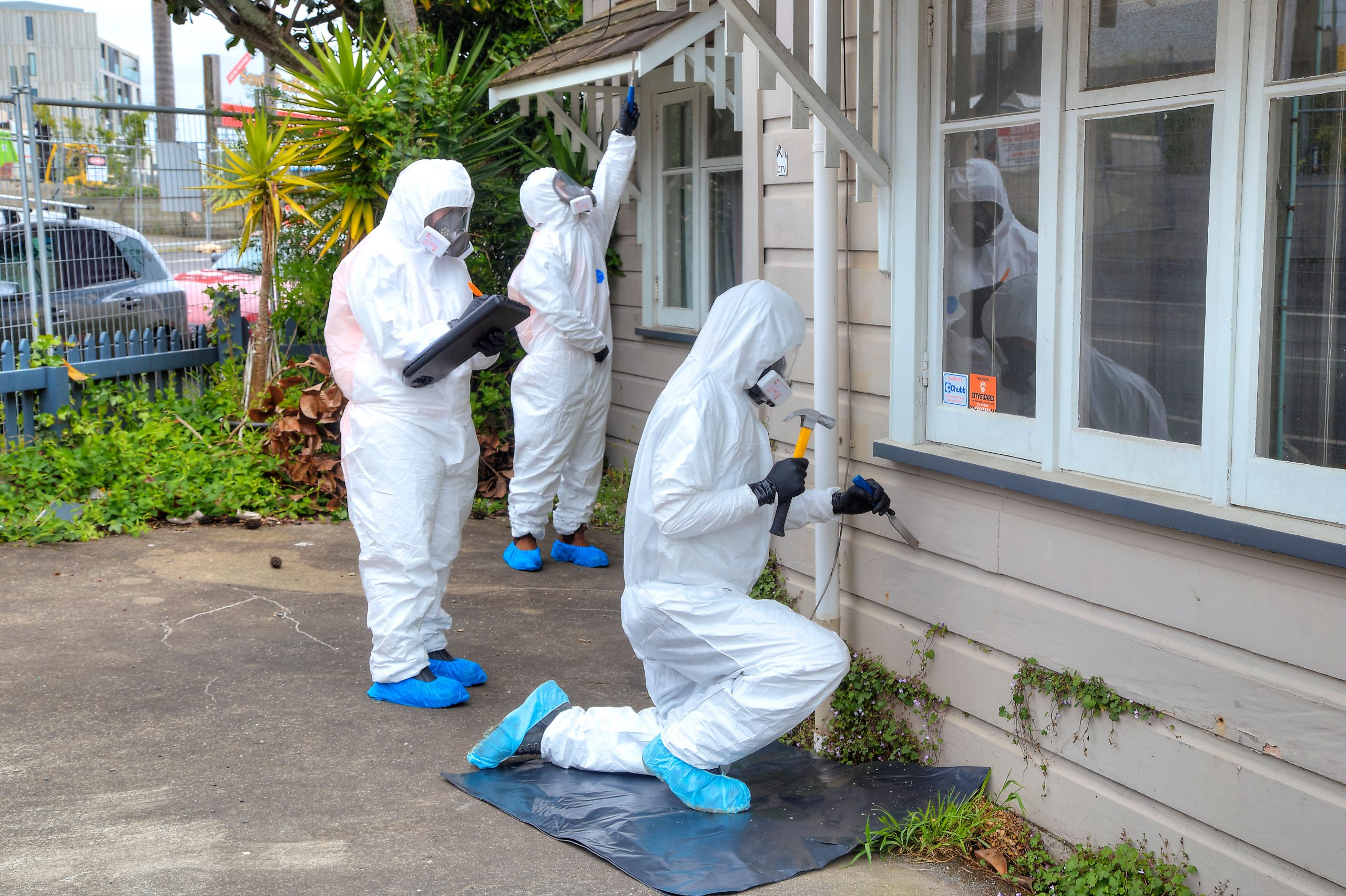 home asbestos test - outside